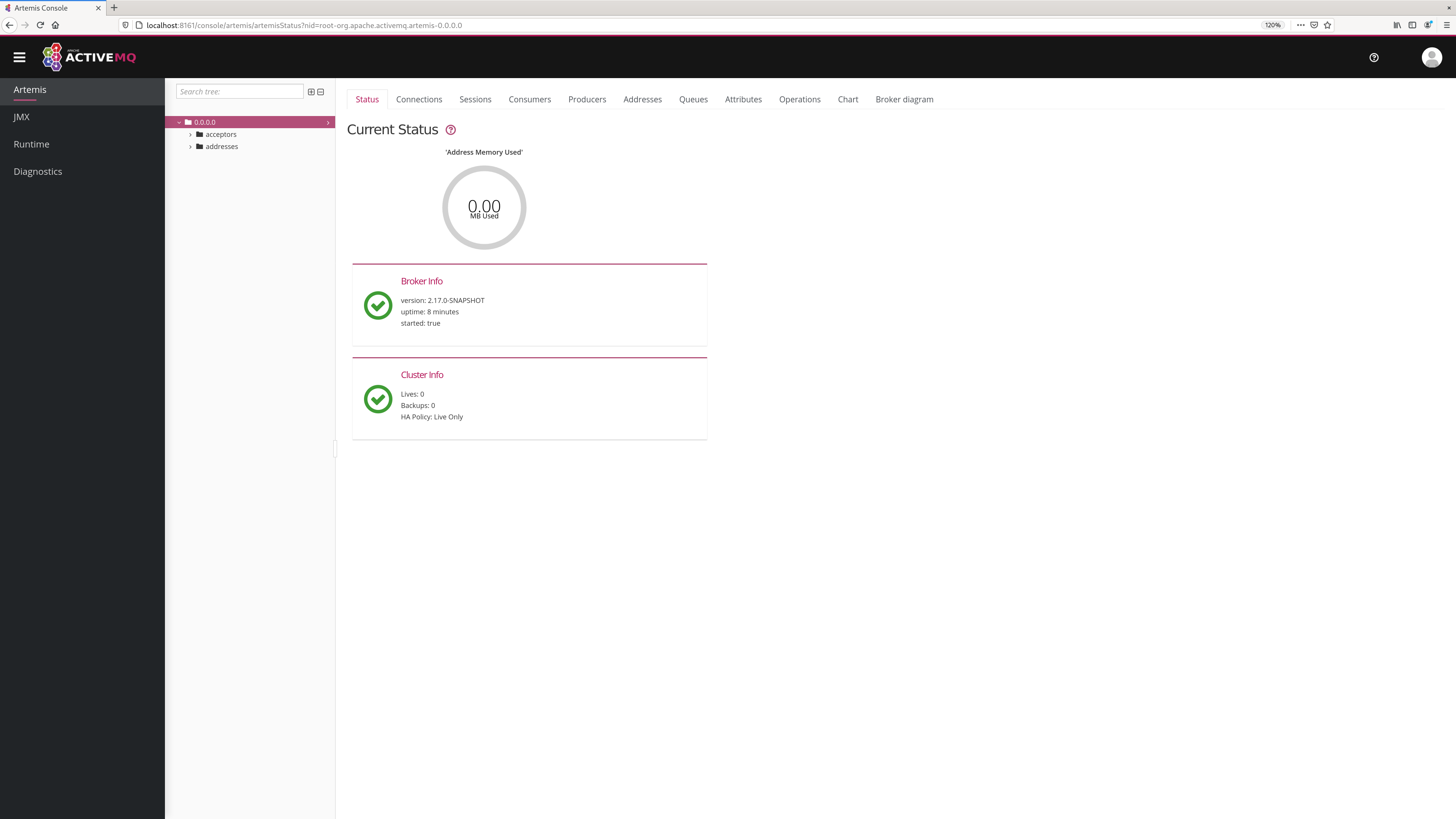 Management Console · ActiveMQ Artemis Documentation